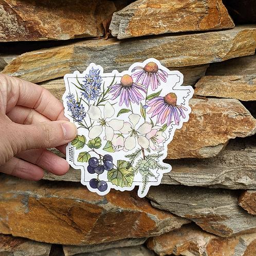 Arkansas Flowers sticker