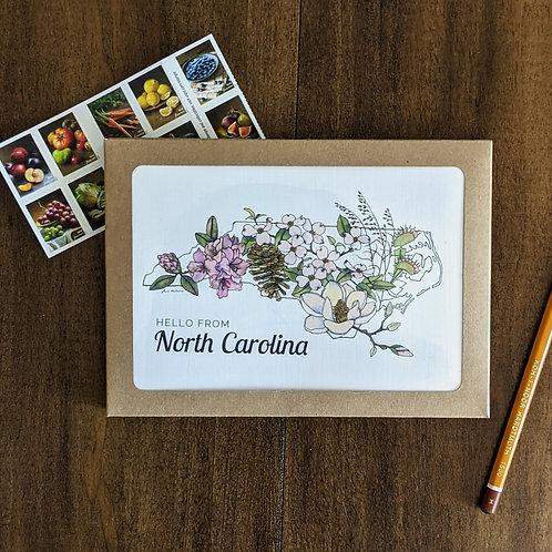 North Carolina Flowers greeting card + packs