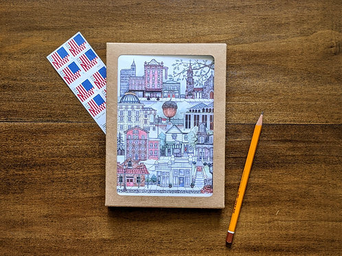 Downtown Raleigh, NC five-pack greeting cards