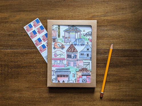 Durham Central Park five-pack greeting cards