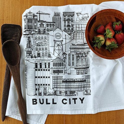 Durham NC cotton tea towel