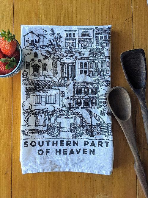 Chapel Hill cotton tea towel