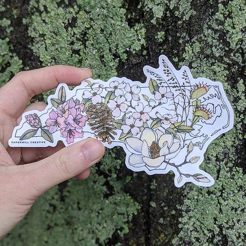 North Carolina Flowers sticker