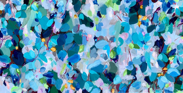 Confetti in Blue by Eve Sellars