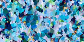 Confetti in Blue / 91x45cm