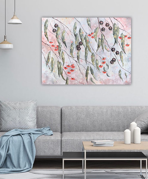 Mauve Breeze Subtle - original painting by Australian artist Eve Sellars