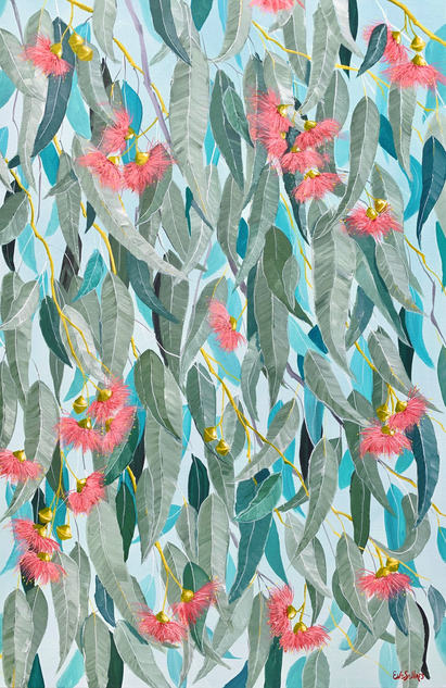 Gum Leaves in the Afternoon / 50x76cm / $550
