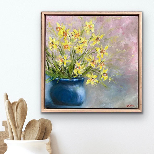 Daffodils (framed)   43cm x 43cm