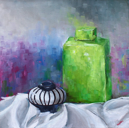 Vases with a Purple Background  |  50 x 50cm