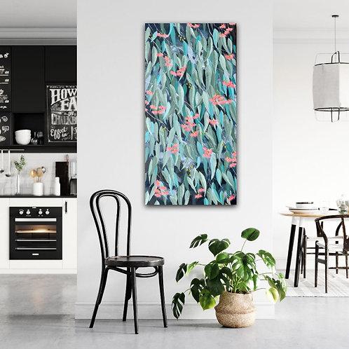 Gum Leaves in Winter Sun - original painting by Australian artist Eve Sellars