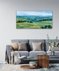 Countryside Along the Hume / 122x61cm