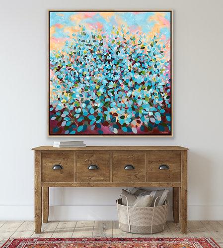 Blue Gum Confetti 2  |  102cm x 102cm