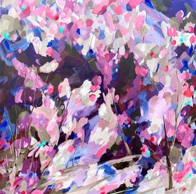 Petals Like Confetti / 76x76cm