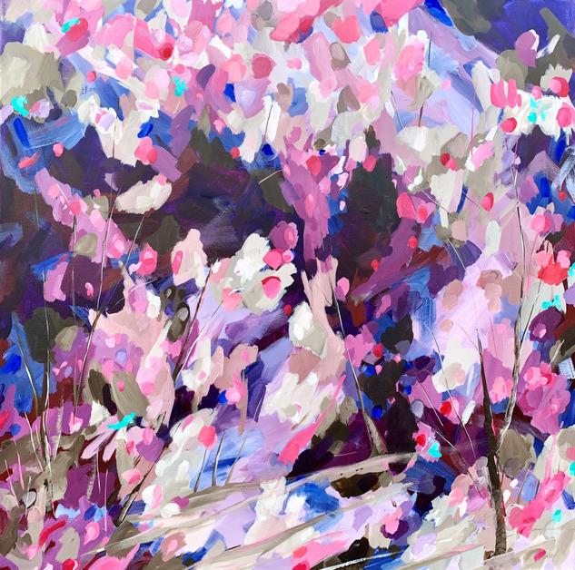 Petals Like Confetti / 76x76cm / $670