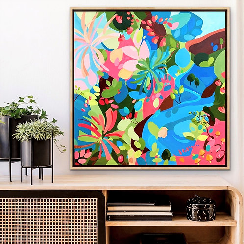 Breathe | 76x76cm | framing available