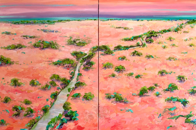 Outback Northern Territory, An Amazing Journey / 153x102cm