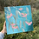Thumbnail: Pink Flowers on Turquoise | 30cm x 30cm