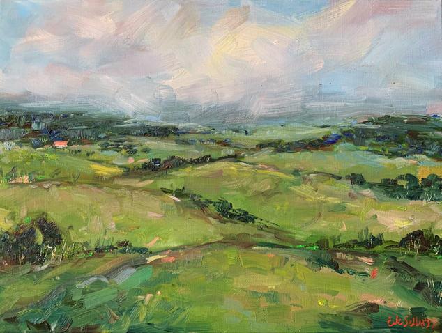 Greener Pasture / 40x30cm / $370