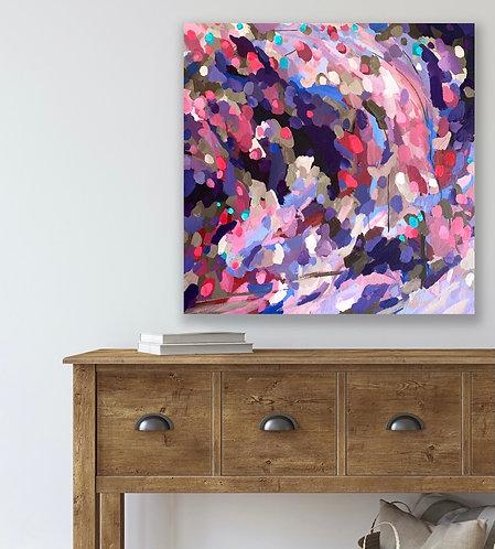 Iris Under Moonlight   76 x 76cm
