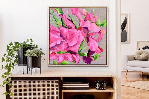 Pink Roses, Sugar & Spice  |  60 x 60cm