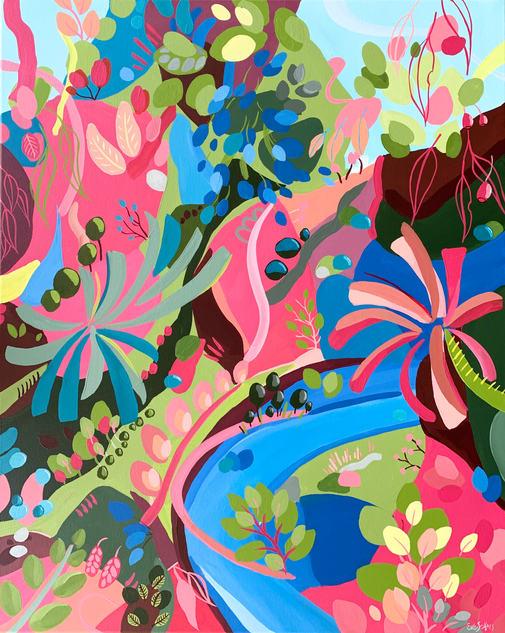 Tropicana Daydreams / 60x76cm / $550