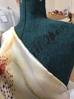 Digitally Printed Silk