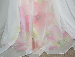 Digital silk printing for a totally Unique Dress