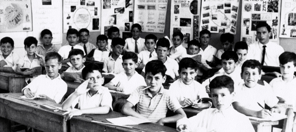 1959: my very first class with me sitting at the back. The pupils are somewhat crowed to fit in the photo, but all in all we were better off than …