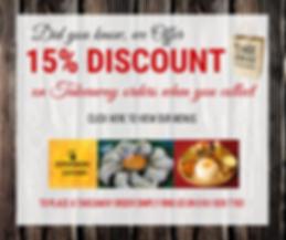 15% Discount on Takeaway orders Kathmand