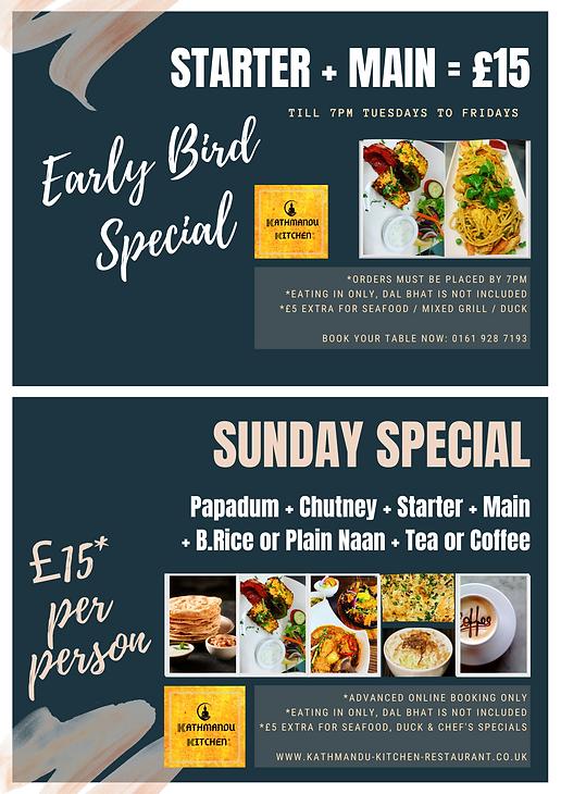 Kathmandu Kitchen Altrincham Early Bird Offer Sunday Special Offer 2021.png