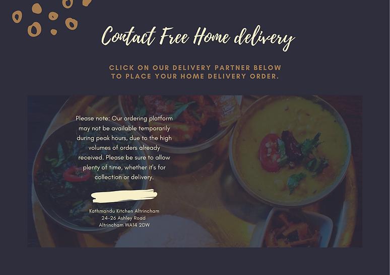 Home delivery Kathmandu Kitchen Altrinch