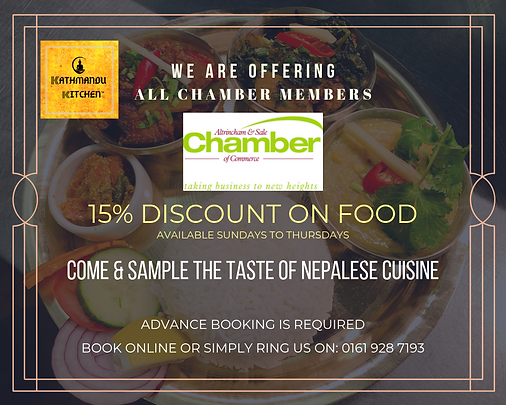 Kathmandu Kitchen Altrincham Chamber mem