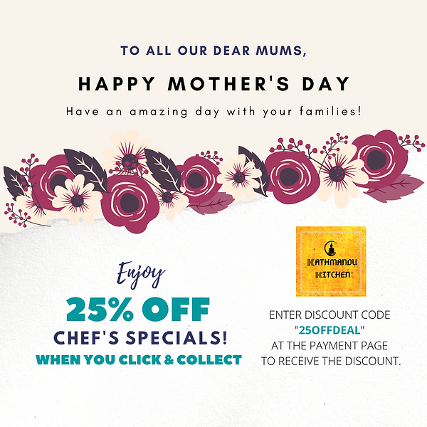 25% off Mother's Day Offer Kathmandu Kit