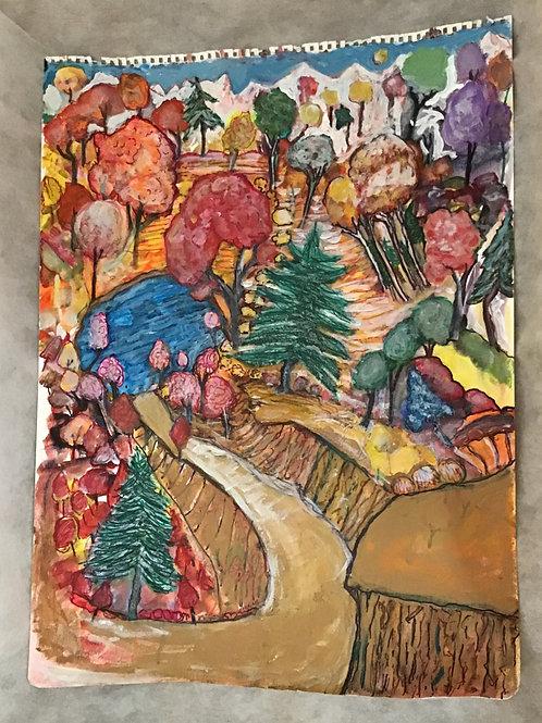 Watercolor Landscape, by Greg Zafiroff