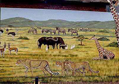 Chester zoo picnic area mural