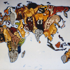World Map Mural - Chester Zoo