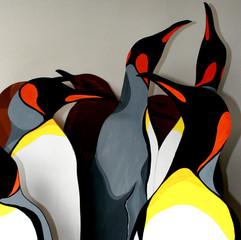 life-size King penguins
