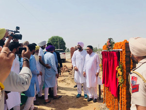 Manpreet Singh Badal _ Foundation Stone Mehma Sarja