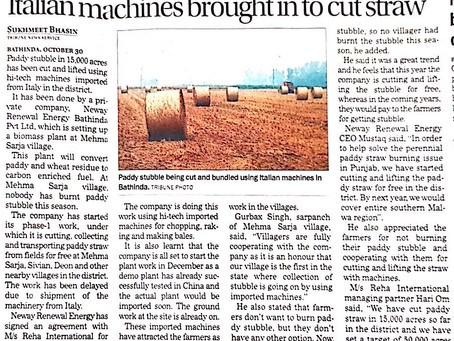 Italian machines brought to stop stubble burning
