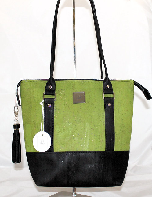 Shoulder Bag - Green Apple & Black
