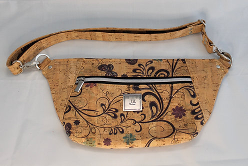 Hip/Sling Bag - Natural Butterfly Floral & Natural