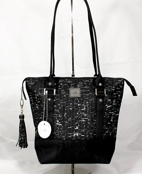 Shoulder Bag - Black & Silver Shimmer