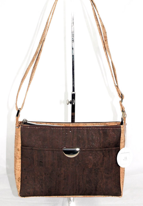 Cross-Body Organizer - Chocolate Brown & Natural
