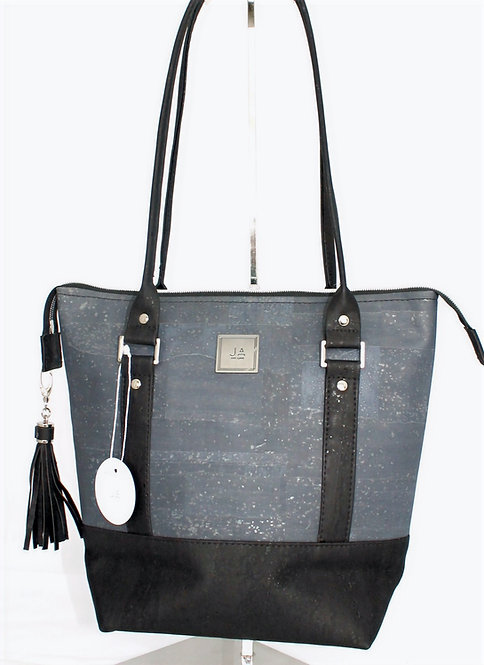 Shoulder Bag -Charcoal Grey & Black