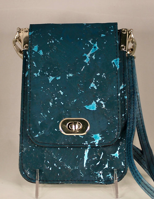 Cell Phone Cross Body Handbag -Turquoise