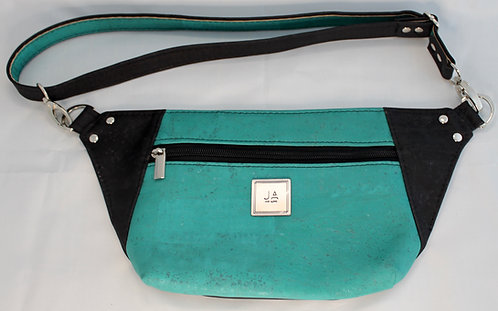 Hip/Sling Bag - Turquoise & Black