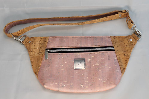 Hip/Sling Bag - Pink Shimmer & Natural