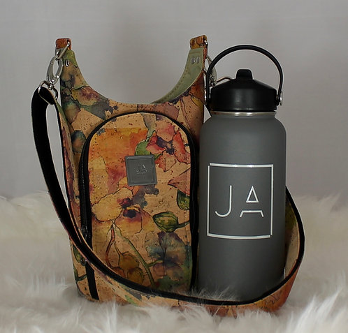 Tumbler Tote - Natural Watercolour Print