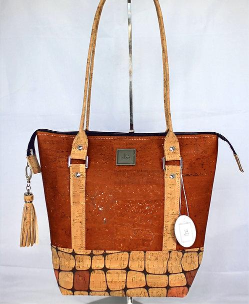 Shoulder Bag - Cinnamon & Mod Natural Squares
