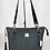 Thumbnail: Quilted Shoulder Bag -Charcoal Grey with Black & Silver Accents